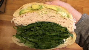How Much Green Is Too Much Green? Turkey Sandwich Filled With Extra Spinach Divides the Internet (View Pic)