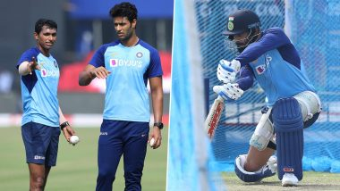 Virat Kohli and Co Sweat It Out in Nets Ahead of India vs West Indies Series Decider in 3rd ODI in Cuttack (View Pictures)