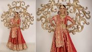 Miss Universe 2019 National Costume Contest: Vartika Singh Goes Traditional As She Graces in Gorgeous Red Indian Bridal Attire (Watch Video)