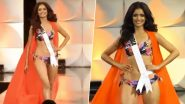 Miss Universe 2019 Swimsuit Round: Vartika Singh of India Sizzles in Floral Bikini During Swimwear Competition at the 68th Edition of Beauty Pageant (Watch Video)