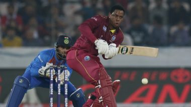 WI 83/1 in 11 Overs (Target 171) | India vs West Indies Live Cricket Score of 2nd T20I 2019 Match: Washington Sundar Removes Evin Lewis