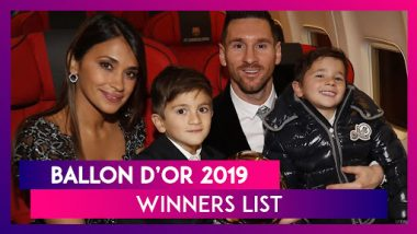 Ballon d'Or 2019 Winners List: Lionel Messi Wins Record Sixth Ballon d'Or, Megan Rapinoe Takes Home The Women's Award