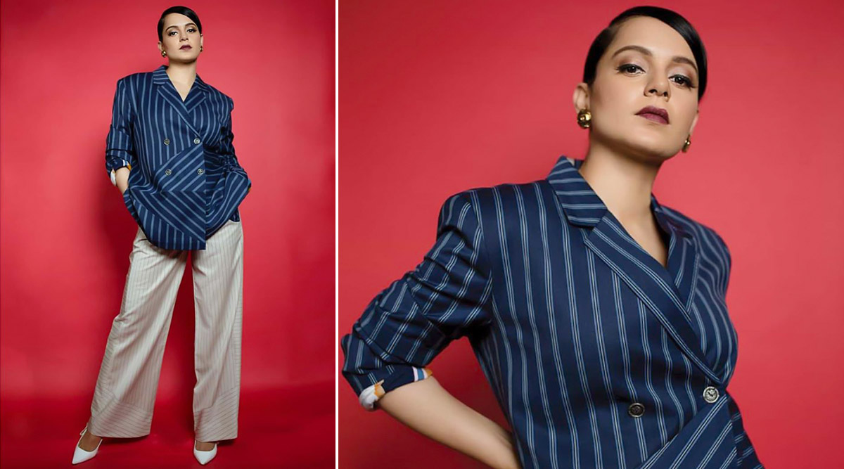 Kangana Ranaut in Two Point Two Studio for Panga promotions