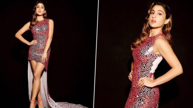 Sara Ali Khan Sparkles and Shines in her Pink Atelier Zuhra Creation for Love Aaj Kal Promotions (View Pics)