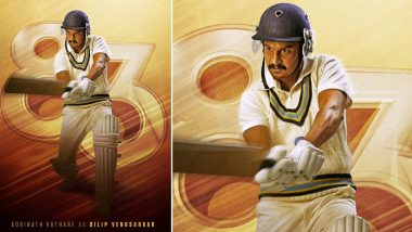 83 The Film: Ranveer Singh Introduces the Finest Gentleman Cricketer, Shares Adinath Kothare's Character Poster of 'Colonel' aka Dilip Vengsarkar