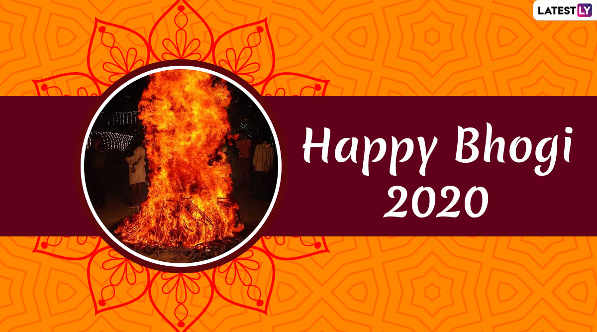Bhogi 2020 Images and HD Wallpapers for Free Download Online: WhatsApp Stickers, GIFs and Wishes to Send Greetings on the First Day of Pongal