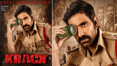 Krack New Poster Out! Telugu Superstar Ravi Teja All Set to Entertain His Fans in New Year 2020 as a Cop