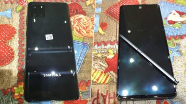 Samsung Galaxy Note 10 Lite Images Leak Online; Likely To Be Launched at CES 2020