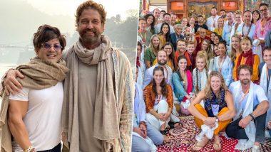 Gerard Butler Welcomes the New Decade by Doing Suryanamaskar in Rishikesh, 300 Star Also Visits Dalai Lama in Karnataka (View Pics)