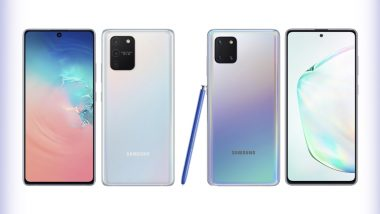 Samsung Galaxy Note 10 Lite, Galaxy S10 Lite Smartphones Officially Unveiled; Prices, Features & Specifications
