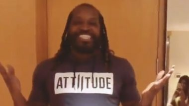 Chris Gayle's TikTok Debut: West Indies Cricketer Introduces Himself in Style (Watch Video)