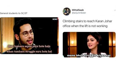 Siddhant Chaturvedi's Fitting Reply to Ananya Pandey's 'Struggle' Comment Is Going Viral; Funny Memes and Jokes You May Have Missed