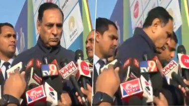 Gujarat Infant Deaths: CM Vijay Rupani Walks Away When Asked About Reports of Death Cases in Rajkot and Ahmedabad Hospitals; Watch Video