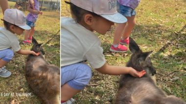 Kunal Kemmu and Soha Ali Khan's Daughter Inaaya Feeds Animals at a Farm in Australia (View Pics)