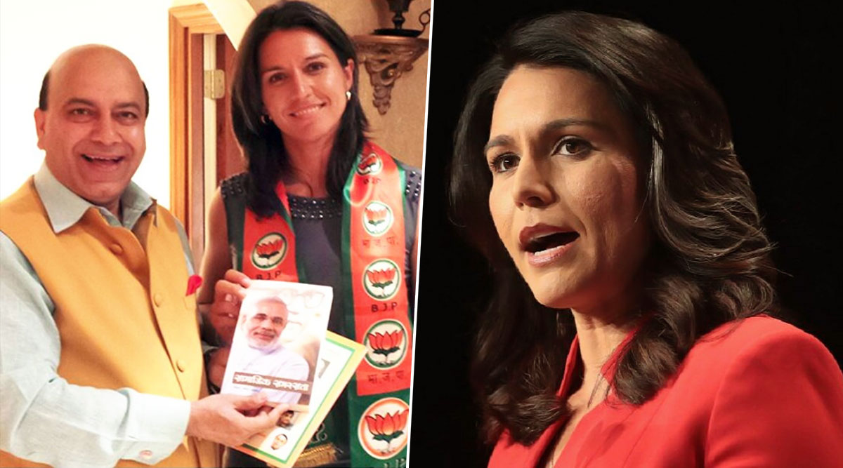 Tulsi Gabbard Questioned for Wearing BJP Scarf, US Presidential Candidate Says 'Someone Put Something Around My Neck and Took a Picture'; Watch Video