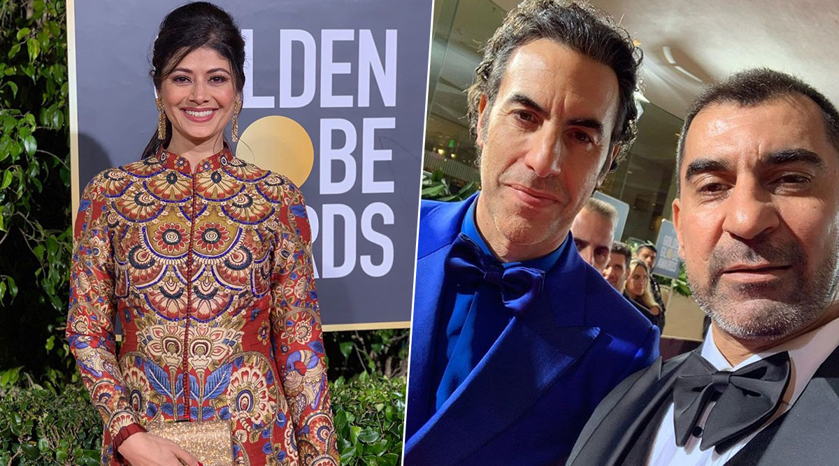 Pooja Batra and Nawab Shah Attended Golden Globes 2020 and We are Loving Their Pictures from the Red Carpet Looks to Posing With Sacha Baron Cohen at the After Party!