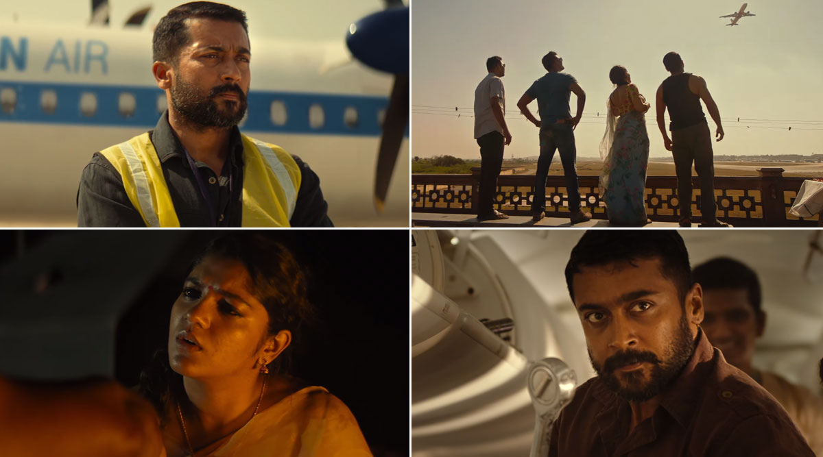Soorarai PottruTeaser: Suriya Seems to Be in His Best Form in This Inspiring True Story of a Man With an Extraordinary Dream (Watch Video)