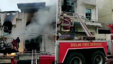 Delhi Fire: One Dead After Massive Blaze Engulfs Printing Press in Patparganj Industrial Area