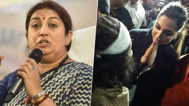 Smriti Irani Jabs Deepika Padukone For JNU Visit, Says 'Can't Deny Her Freedom to Stand With People Saying Bharat Tere Tukde Honge'