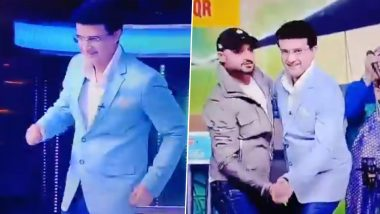 Harbhajan Singh Makes BCCI President Sourav Ganguly Dance to Bollywood Song 'Senorita' During Dadagiri Unlimited TV Show, Watch Video