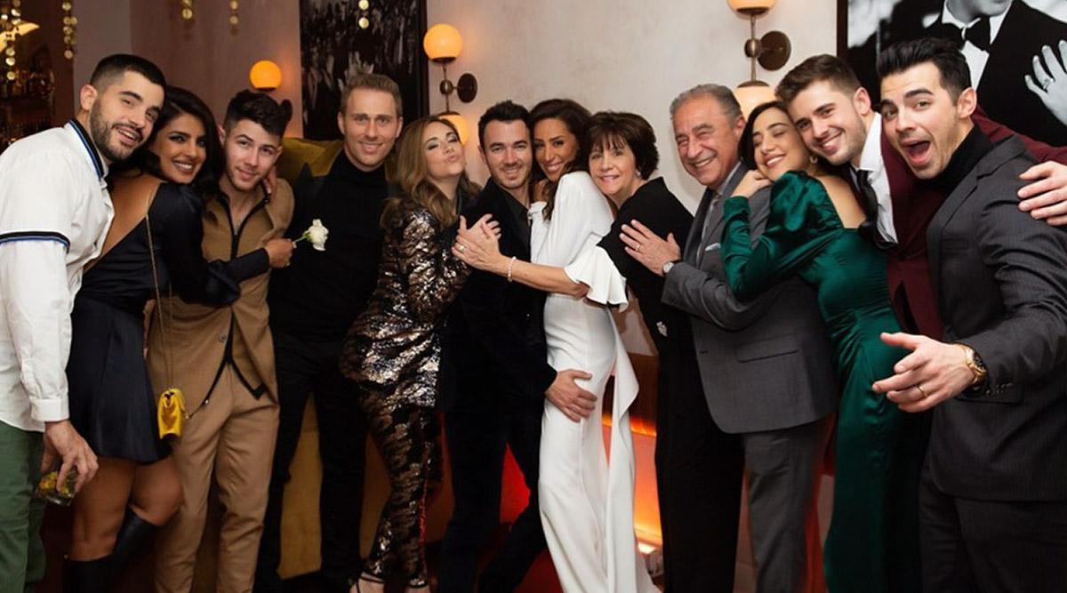 Priyanka Chopra and Nick Jonas are all Smiles as they Celebrate Kevin and Danielle Jonas' 10th Wedding Anniversary - View Pic