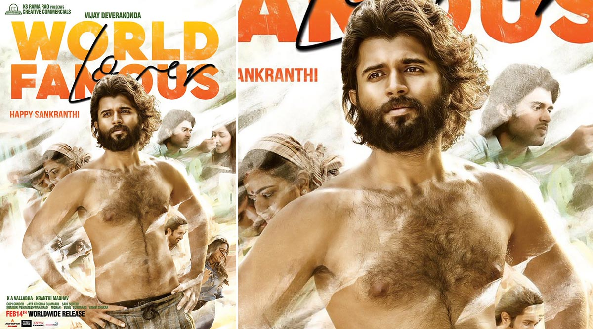 World Famous Lover New Poster: Vijay Deverakonda's 'No Abs, No Worry' Look is Unusually Hot (View Pic)