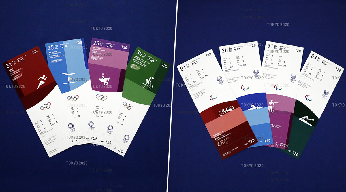 Tokyo 2020 Olympics and Paralympics Ticket Designs Unveiled