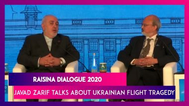 Raisina Dialogue 2020: Iran Foreign Minister Javad Zarif Speaks On Ukrainian Flight Tragedy
