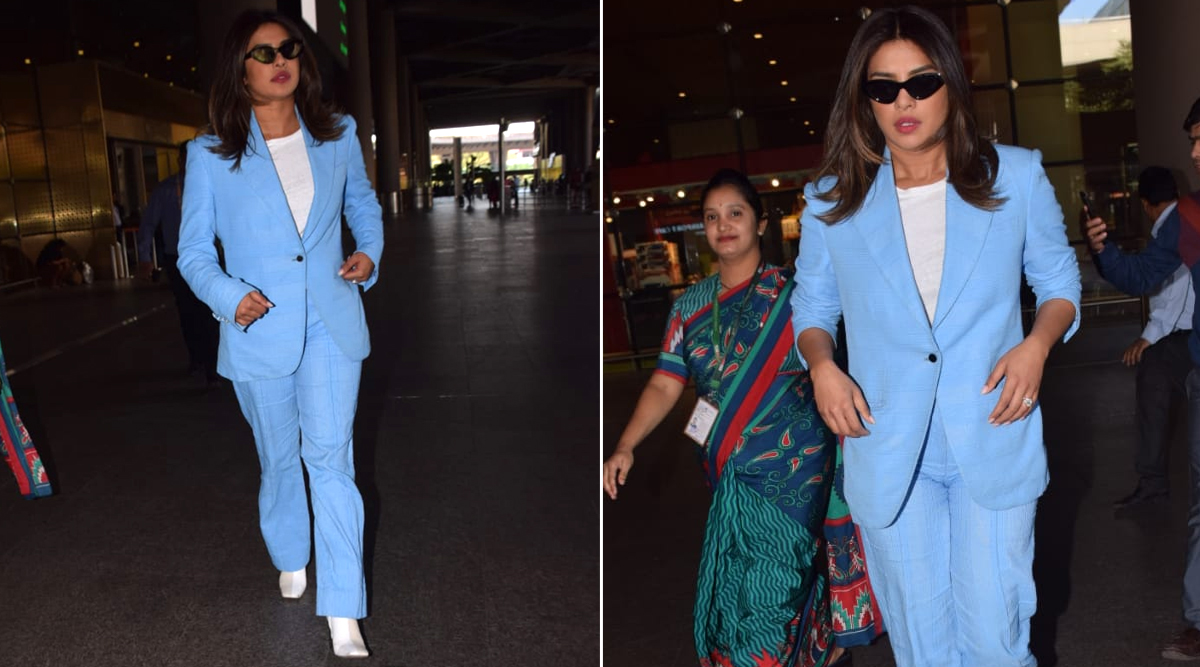 Priyanka Chopra's Blue Pantsuit is Effortlessly Chic and Extremely Stylish all at Once (View Pics)