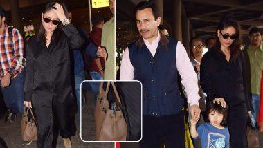 Kareena Kapoor Khan Sports a Rs 13 Lakh Handbag at the Airport (View Pics)