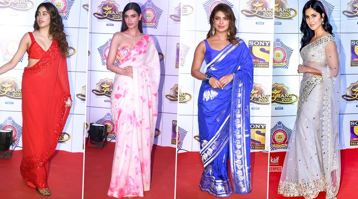 Umang 2020: Priyanka Chopra, Katrina Kaif, Janhvi Kapoor and Others Stun us with their Saree Game for the Night (View Pics)