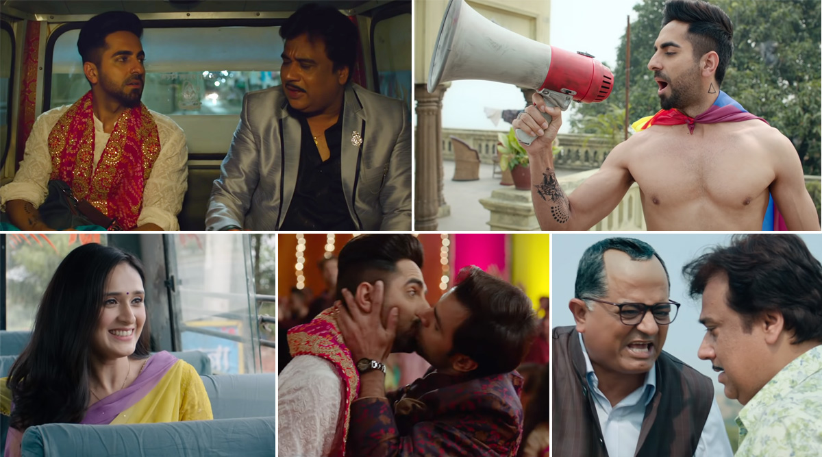 Shubh Mangal Zyada Saavdhan Trailer: Ayushmann Khurrana and Jitendra Kumar Show That 'Love is Love' in This Quirky Same-Sex Romance (Watch Video)