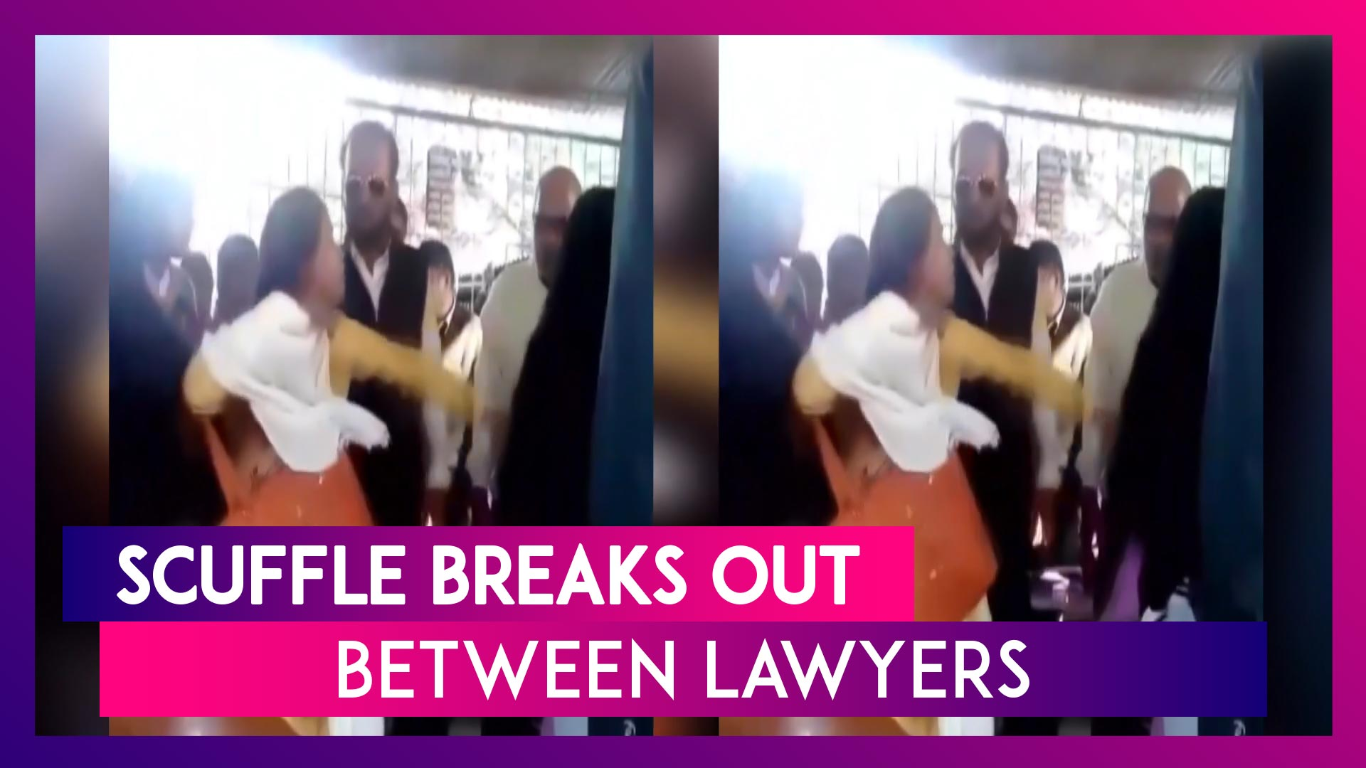 Madhya Pradesh: Scuffle Breaks Out Between Lawyers In Satna