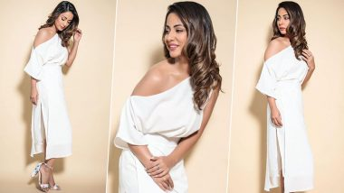 Yo or Hell No? Hina Khan's Chic White Dress by Mitali Wadhwa for Hacked Promotions