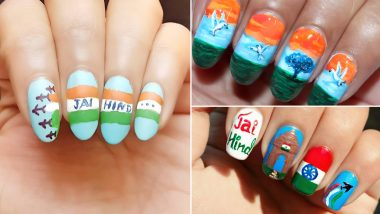 Latest Nail Art Designs For Republic Day 2020: From Tricolour to Jai Hind, Easy Manicure Inspirations For January 26 Celebrations (View Pics and Videos)