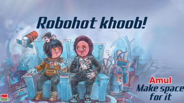 Amul Topical Ad Features Vyommitra, ISRO's Half-Humanoid With 'Utterly-Butterly' Girl is Going Viral