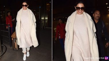 Deepika Padukone Opts for a Monochrome Look for her Airport Appearance and it's Worth Taking Some Inspiration From (View Pics)