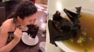 Coronavirus Scare: Video of Chinese Woman Eating a Whole Bat Goes Viral! Netizens Horrified As Wuhan Goes On a Lock Down