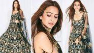 Kriti Kharbanda Looks Bewitching in her Black Floral Payal Singhal Outfit (View Pics)