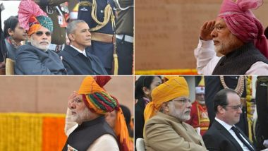 Republic Day 2015 to 2020: A Look at PM Narendra Modi's Turban Tradition During National Festivals (See Pictures)