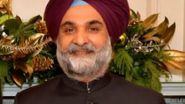 Taranjit Singh Sandhu Appointed New Indian Ambassador to United States, Will Replace Harsh Vardhan Shringla