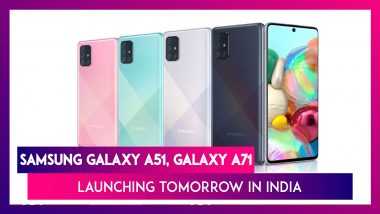 Samsung Galaxy A71 & Galaxy A51 Phones To Be Launched Tomorrow in India; Expected Prices, Variants, Features & Specifications