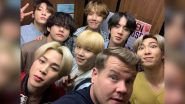 #BTSxCorden and #BlackSwanLive Take Over Twitter as BTS Performs Black Swan Live on 'Late Late Show with James Corden' (Watch Video)
