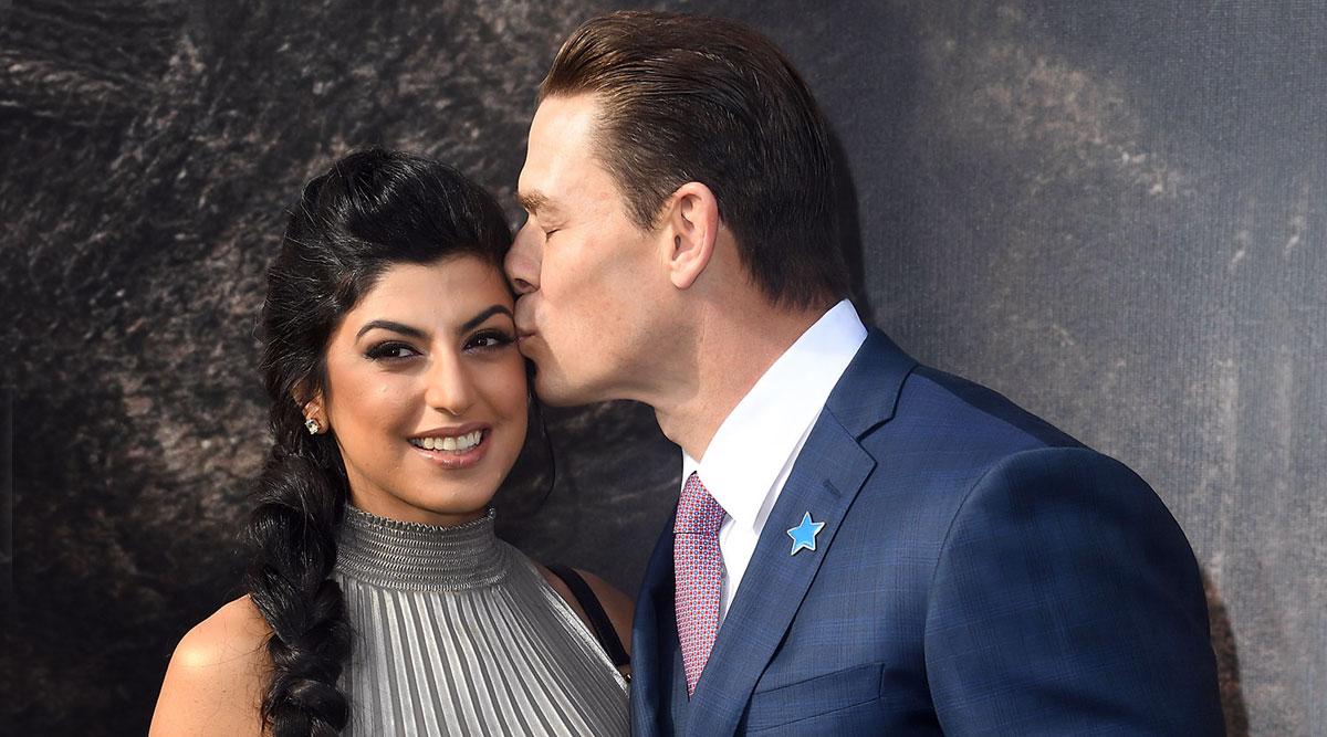 WWE Superstar John Cena Kisses Girlfriend Shay Shariatzadeh at Doolittle Premiere in Los Angeles (View Pics)