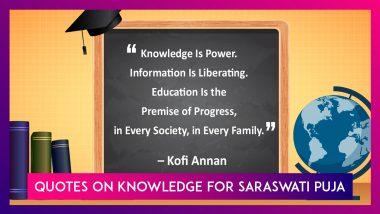 Basant Panchami 2020: Quotes On Knowledge & Education To Worship Maa Saraswati