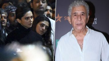 Naseeruddin Shah on Deepika Padukone's JNU Visit: 'You Have to Laud Her Courage Even If She Has a Lot to Lose'