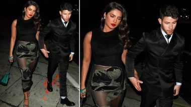 After Golden Globes 2020, Priyanka Chopra Slips Into A Sexy Sheer Black Dress For A Dinner Date With Nick Jonas (See Pic)