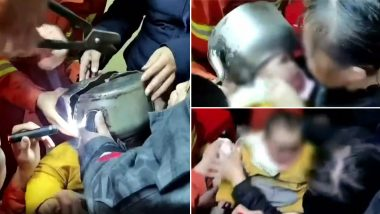 Chinese Toddler's Head Gets Stuck In A Tea Kettle; Video Of Firefighters Rescuing The Child Goes Viral