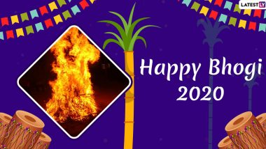 Happy Bhogi Pongal 2020 Images in Telugu & HD Wallpapers for Free Download Online: Send Pongal WhatsApp Stickers, Hike Messages and GIF Greetings