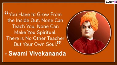 Swami Vivekananda Jayanti 2020 Quotes: Motivational Slogans by Great Indian Philosopher on His Birth Anniversary